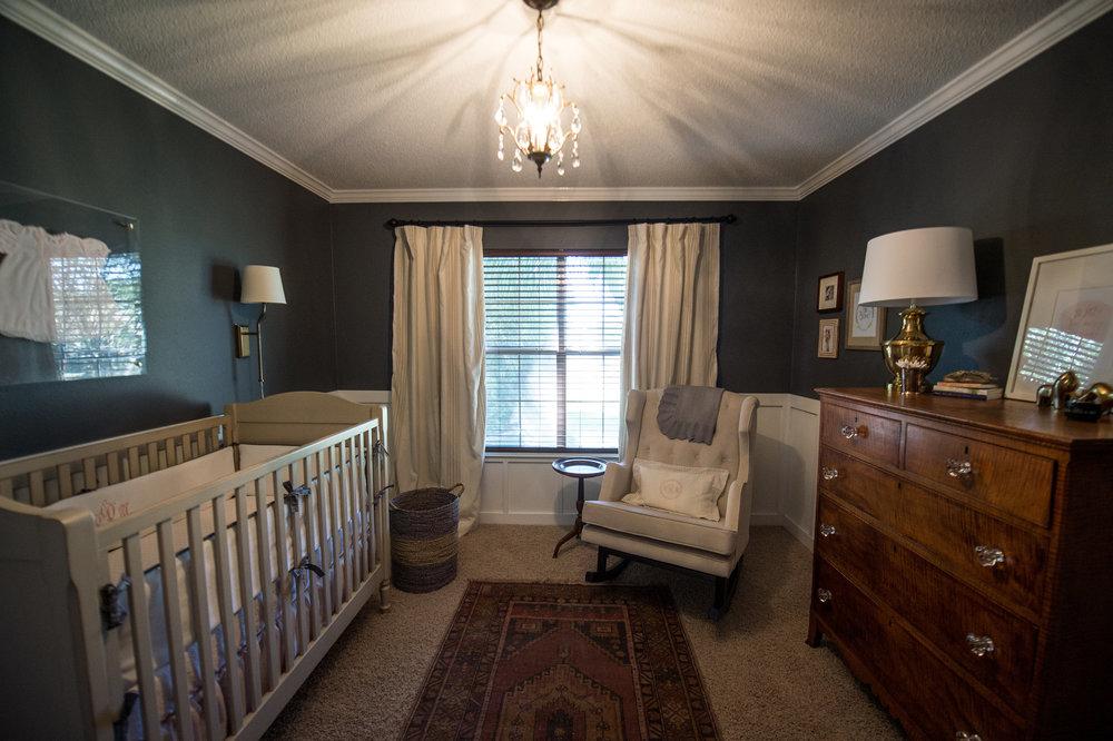 charchoal slate girl nursery vintage rug