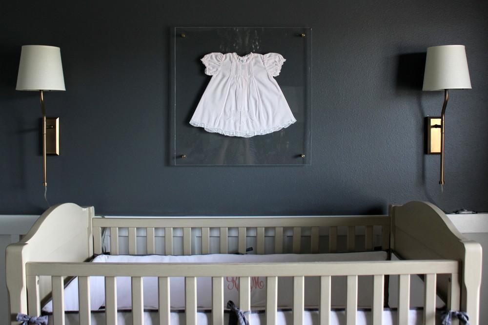 acrylic frame baby gown nursery