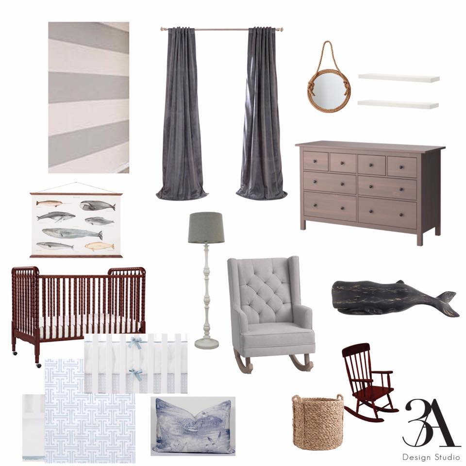 nautical nursery moodboard edesign 3a design studio