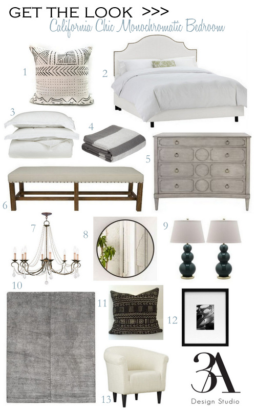 get the look monochromatic bedroom natalie morales