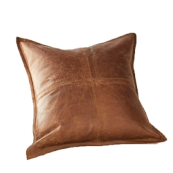Pottery Barn Leather Pillow