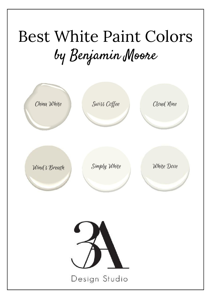 favorite white paint colors benjamin moore 3a design studio