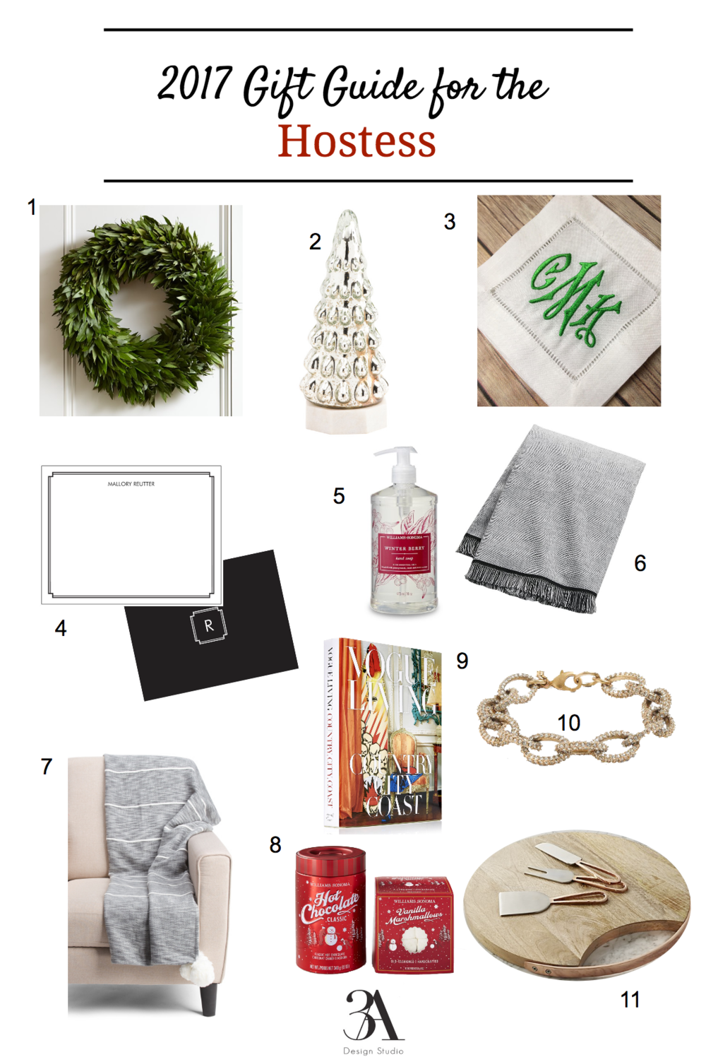 2017 gift guide for the hostess 3a design studio