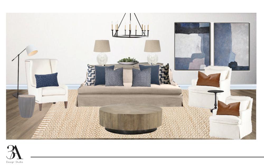 fulll room e-design 3a design studio pensacola