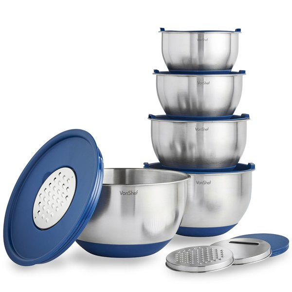 Mixing bowls with storage lids