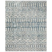 Blue Graphic Rug