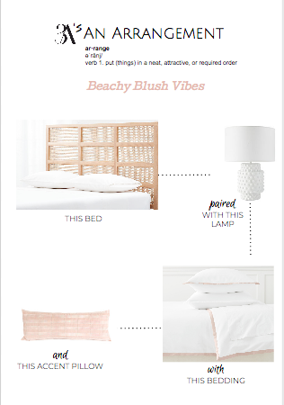 Beachy Blush Bedroom Decor