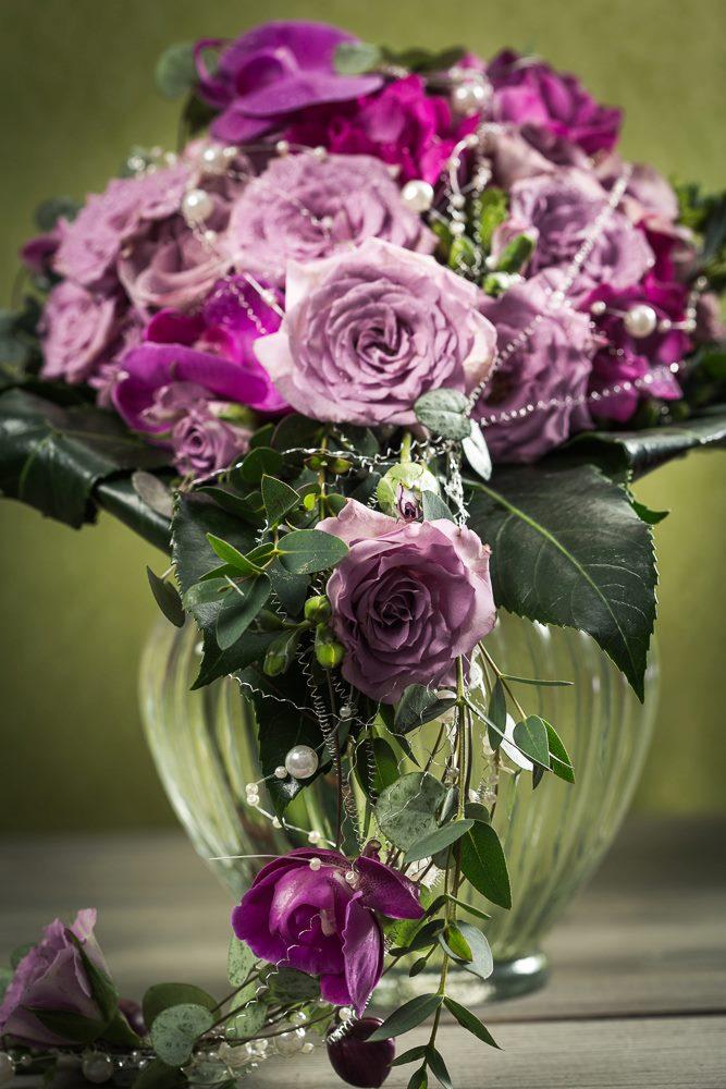 Brudebukett i vase