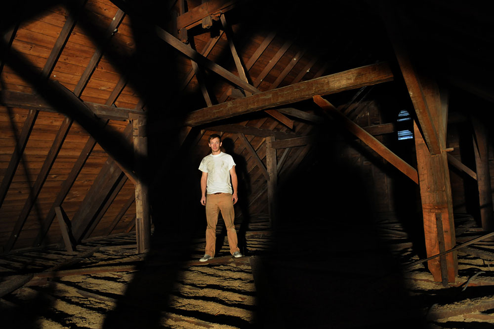 Ryan in his attic, IN