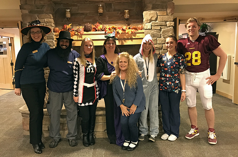 White Pine Senior Living of Blaine Staff - Halloween 2016