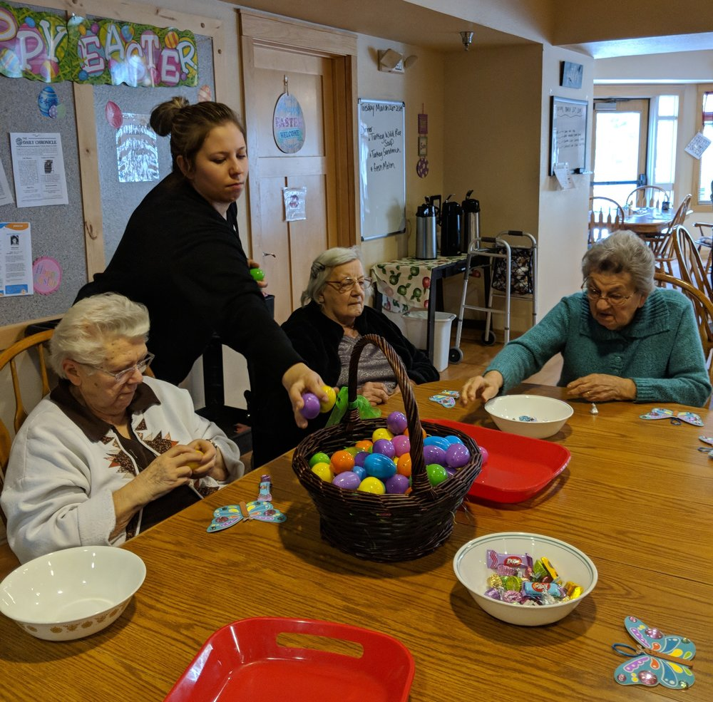 Tenants are busy filling Easter eggs 1.jpg