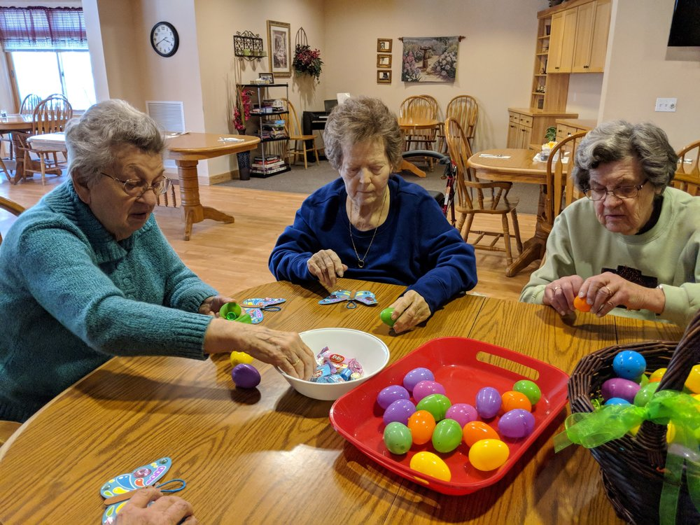 Tenants are busy filling Easter eggs 4.jpg
