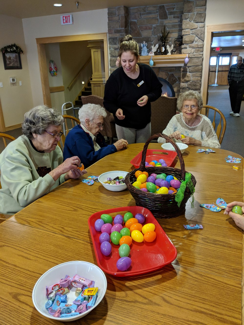 Tenants are busy filling Easter eggs 5.jpg