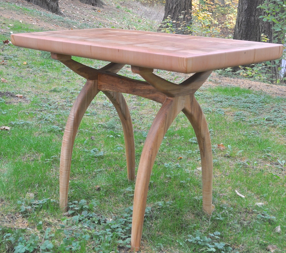 Matthew Sellensu0027 Latest Furniture Design Is A Butcher Block Table. The  Reclaimed Fir End Grain Surface Was Based On 3x2u0027 Center Made By Salvage  Works In ...