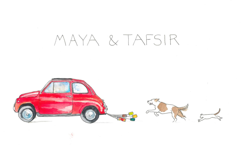 Maya is Italian and loves animals: featuring Fiat 500, Tella and Kitty.