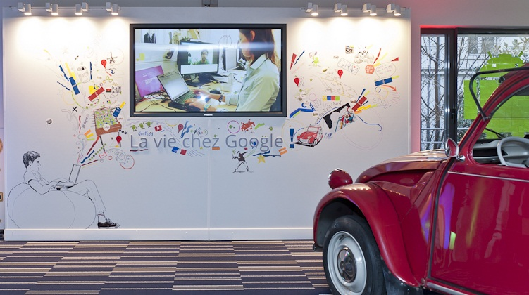 Google Mural for Paris Office Opening   Headquarters Paris inauguration, 2011