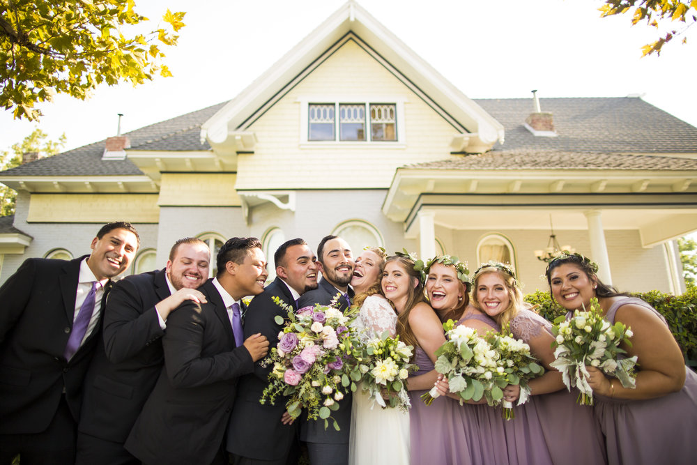 Pierce Wedding Bridal Party Noriega House Bakersfield