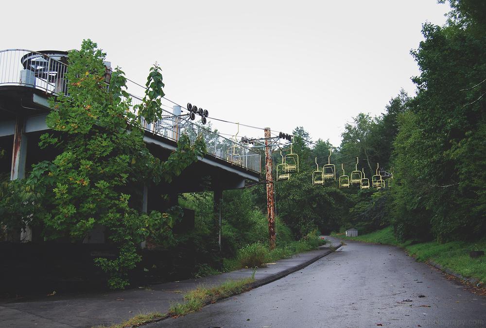 Abandoned Amusement Park Swings