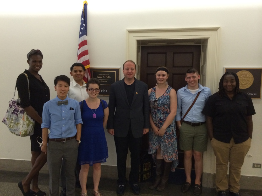 2014 Leadership Institute participants met with Rep. Jared Polis (D-Colo.) to discuss LGBT politics and life as an openly gay member of C