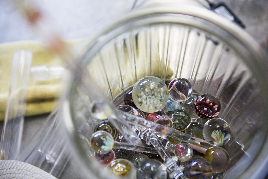 Borosilicate glass marbles show the incredible level of detail that can be achieved.