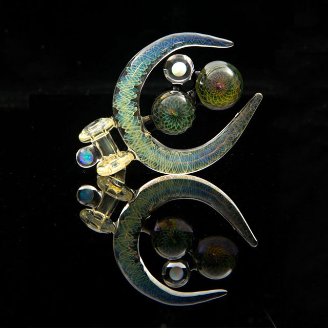 Fumed Pendant w/ 2 Opals - Kevin Nail X Royal