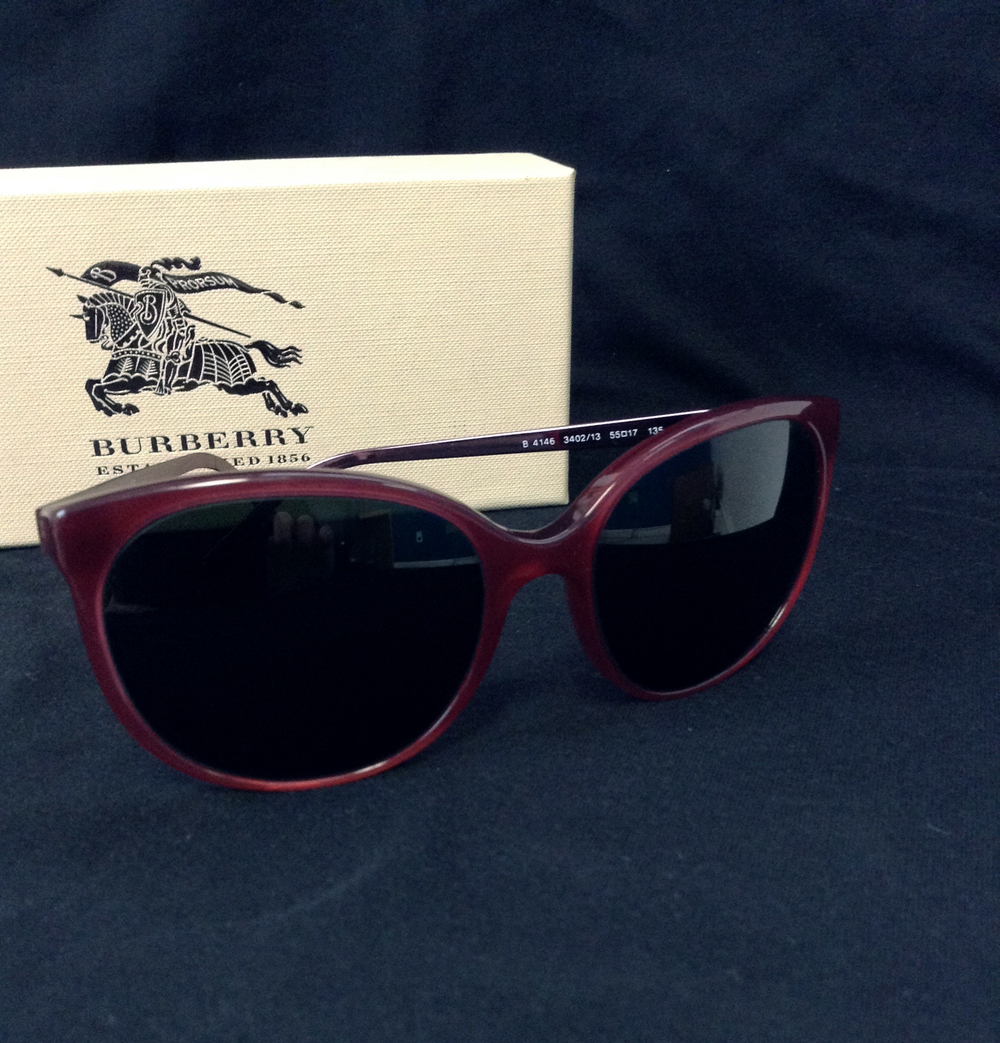 Burberry LG Burgundy/Brown $350