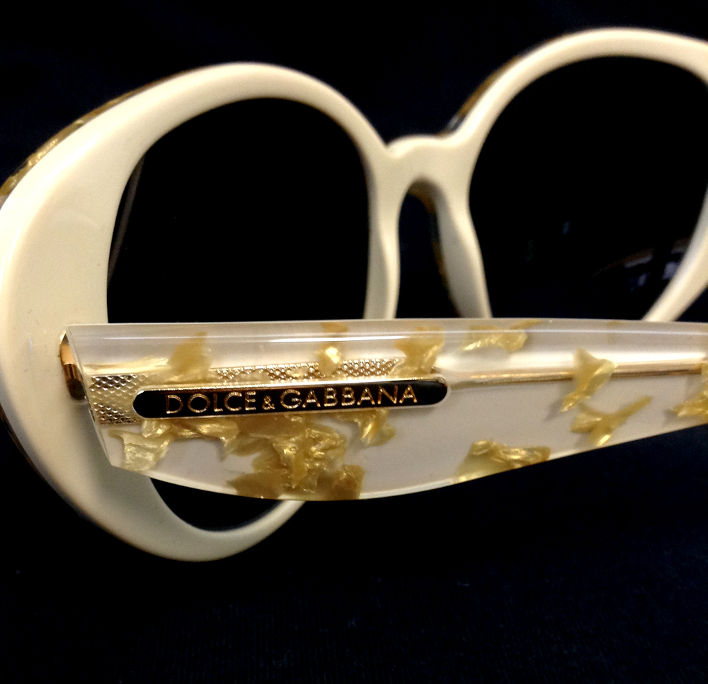 Dolce and Gabbana LG Gold/Cream $375