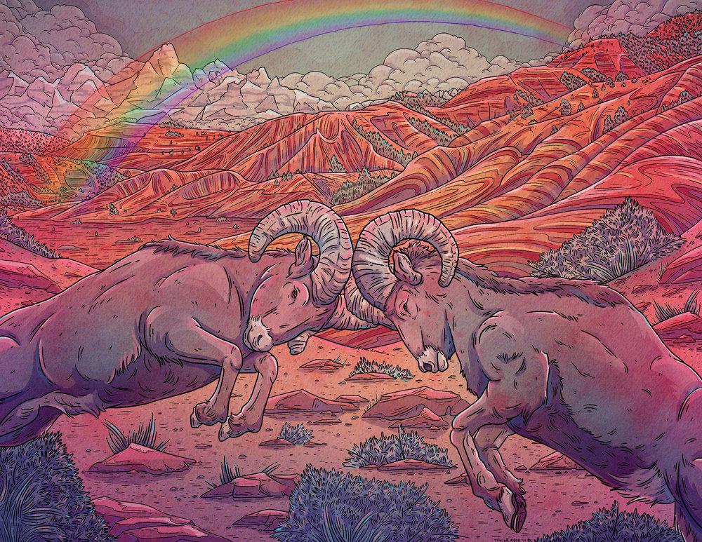 Rainbow Rams/commission