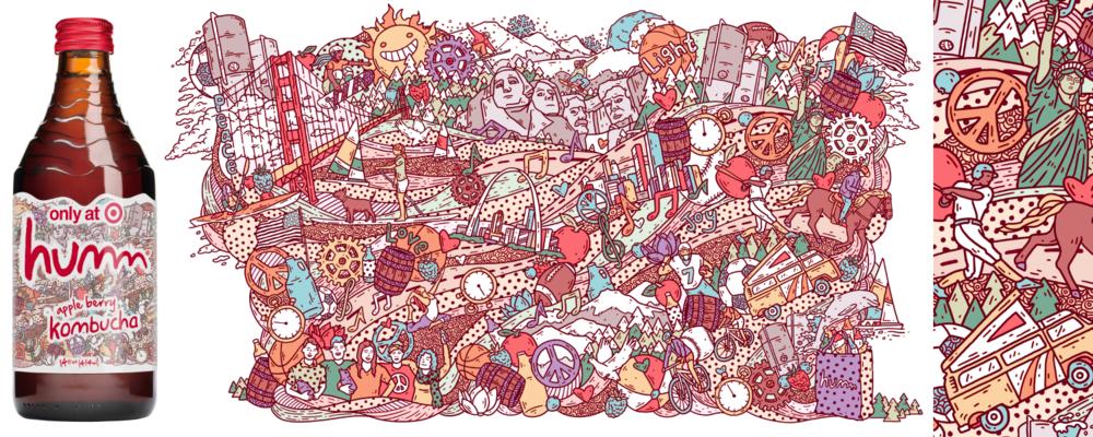 Humm Kombucha/Target/label art