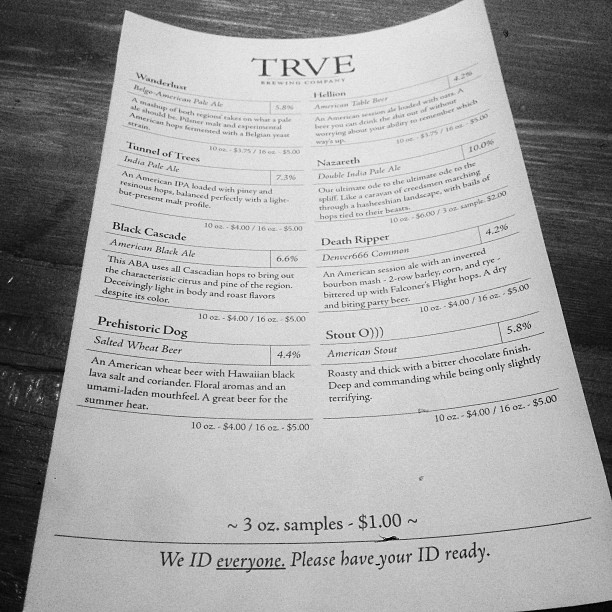 Eight beers on tap. About damn time. (at TRVE Brewing Co.)