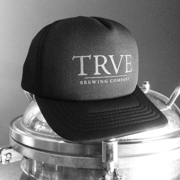 Black everything brewing. Black, black, and reflective black. Come get 'em.  (at TRVE Brewing Co.)