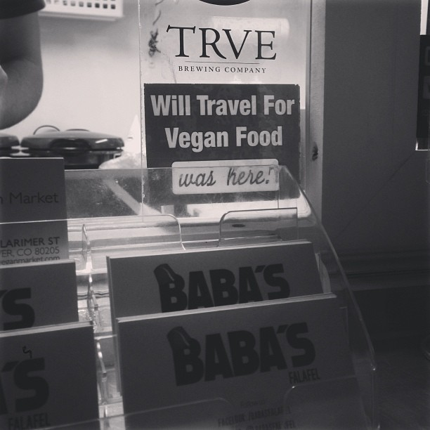 @babasfalafel reppin'. Love it! (at TRVE Brewing Co.)