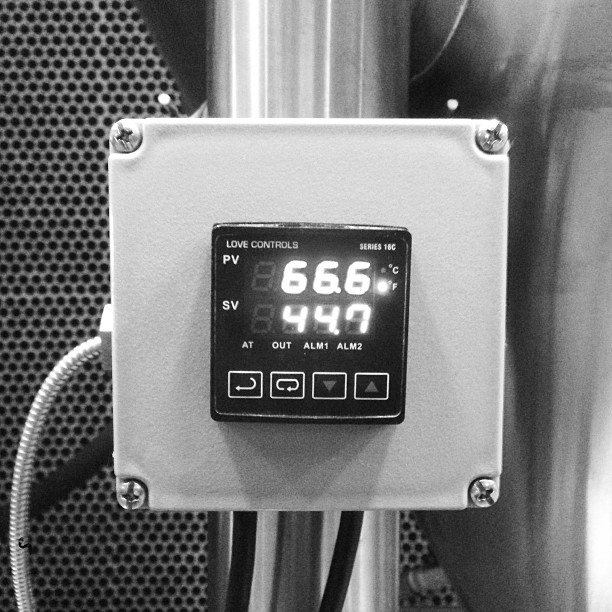It's like our new fermenters know what the right ambient temperature is.  (at TRVE Brewing Co.)