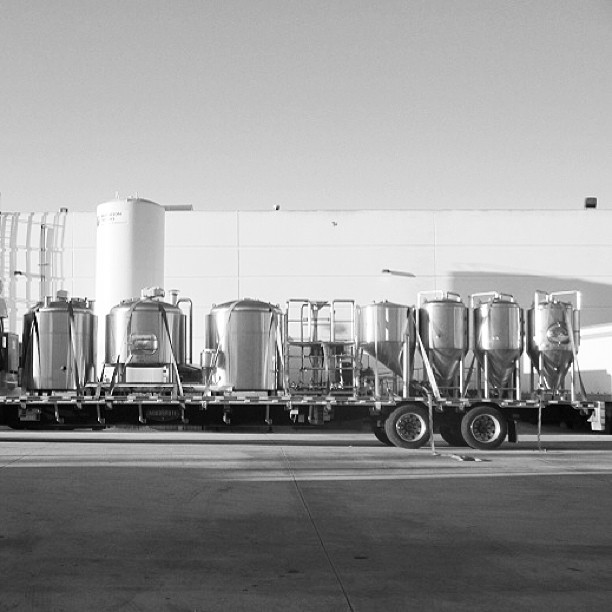 Denver bound from California - three new 7 barrel fermenters. Soon we'll be making twice as much beer.