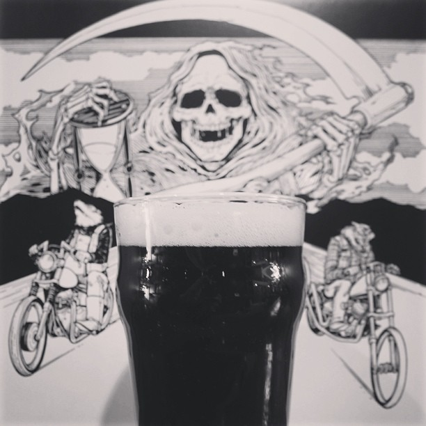 Drink with death (at TRVE Brewing Co.)