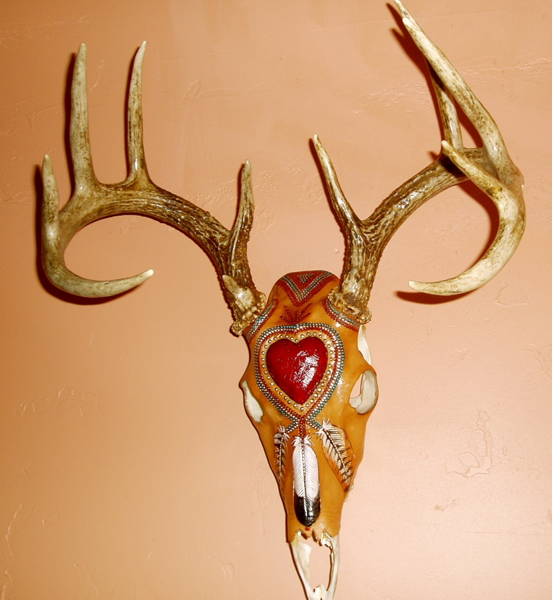 Deer Heart Skull  Click to enlarge