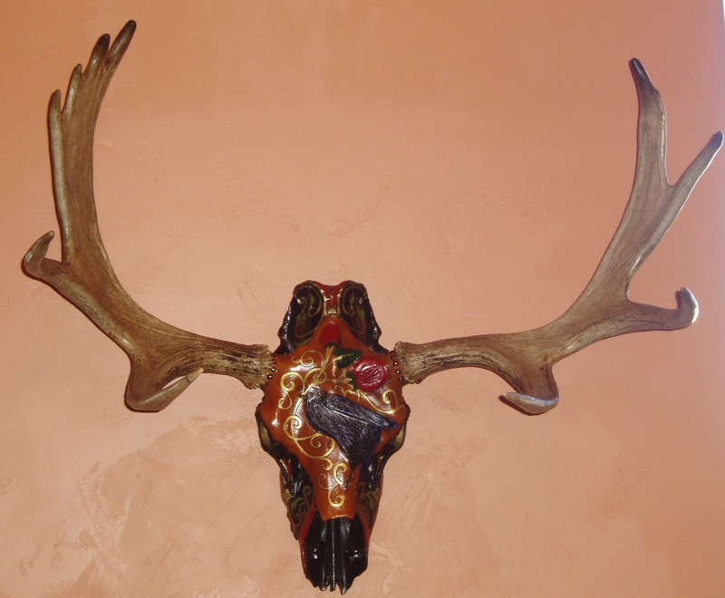 Moose Raven Skull Click a thumbnail to see slideshow