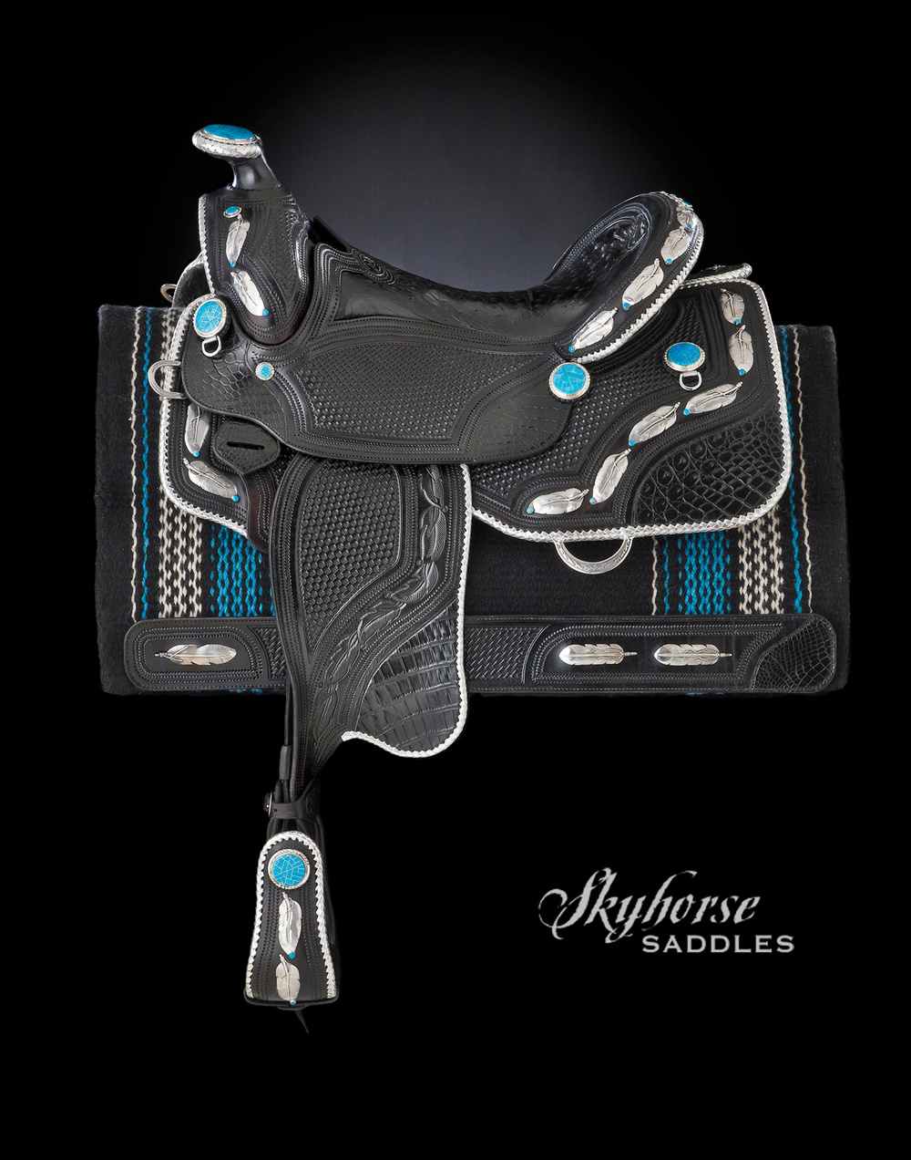 Black Feather Show Saddle Click a thumbnail for a slideshow