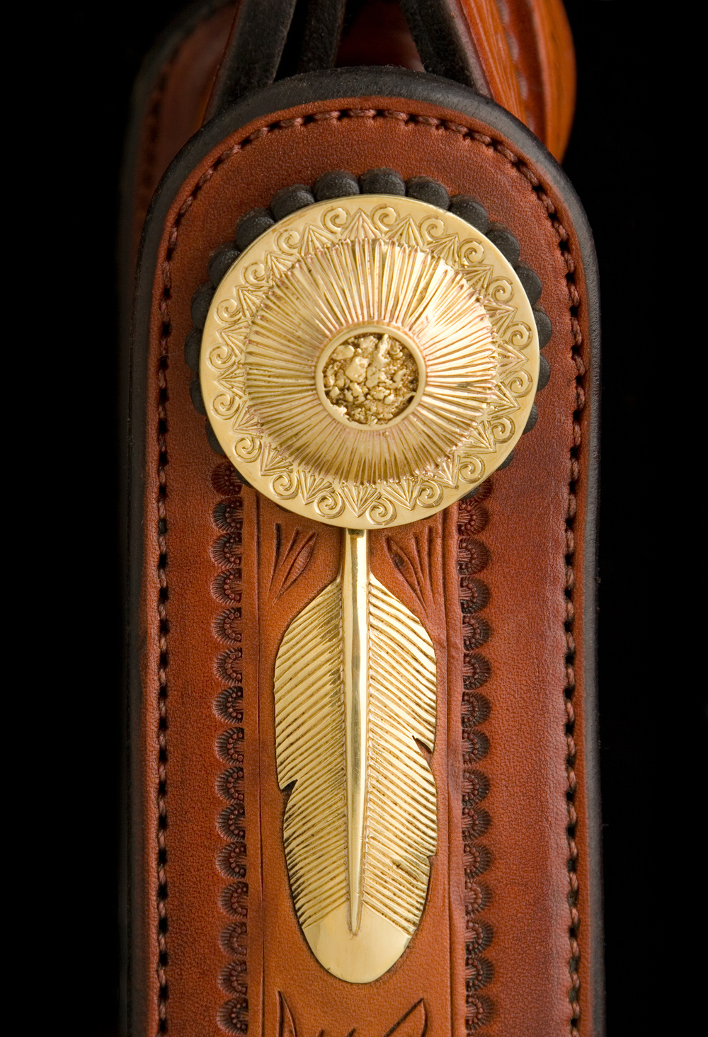 Gold Nugget Saddle