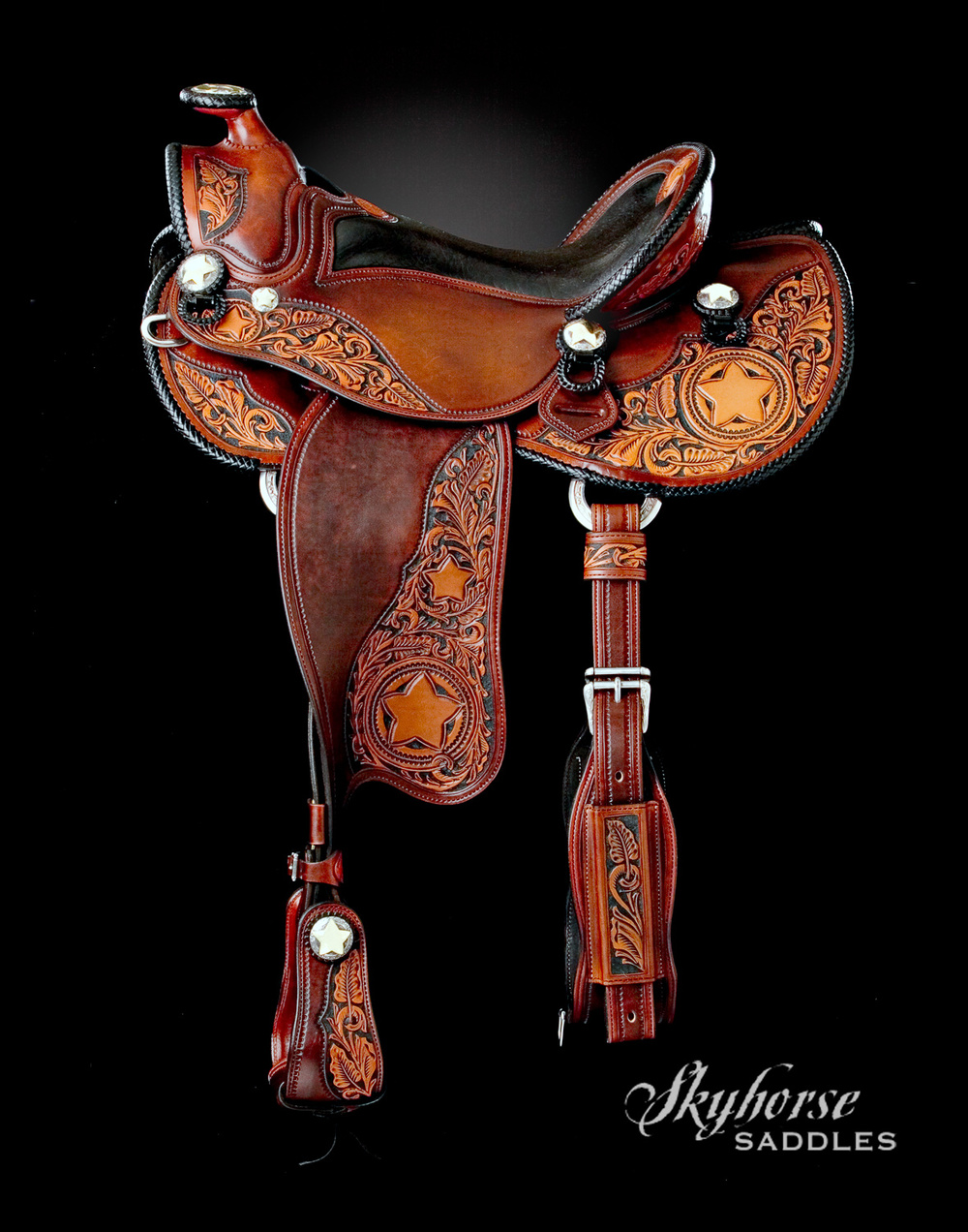 Texas Star Saddle  Click to enlarge