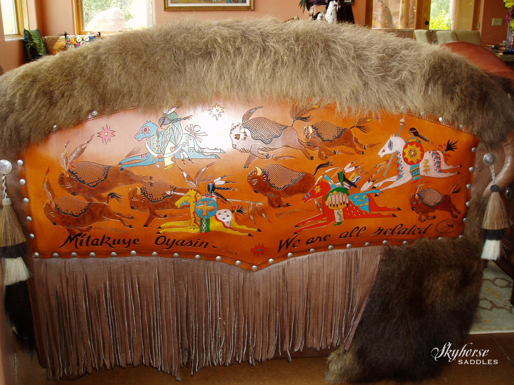 Buffalo Hunt Love Seat  Click to enlarge