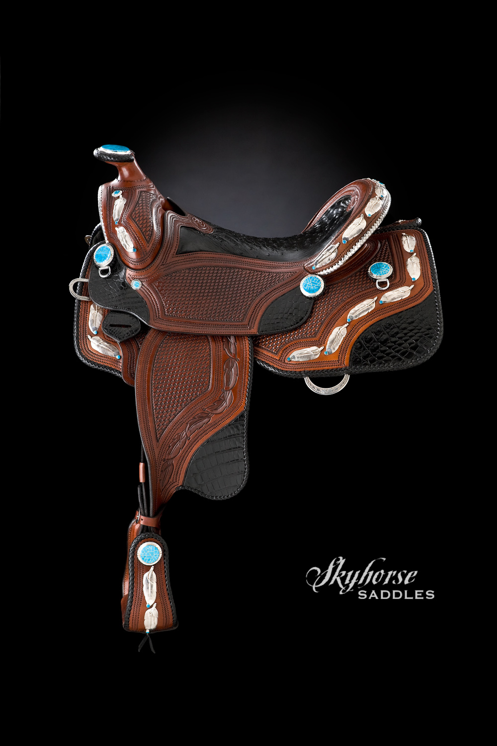 Black Feather Saddle