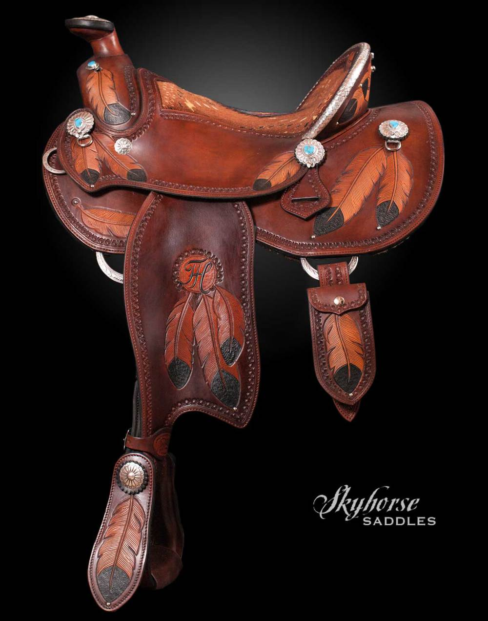 Tammy's Feather Trail Saddle Click a thumbnail for a slideshow