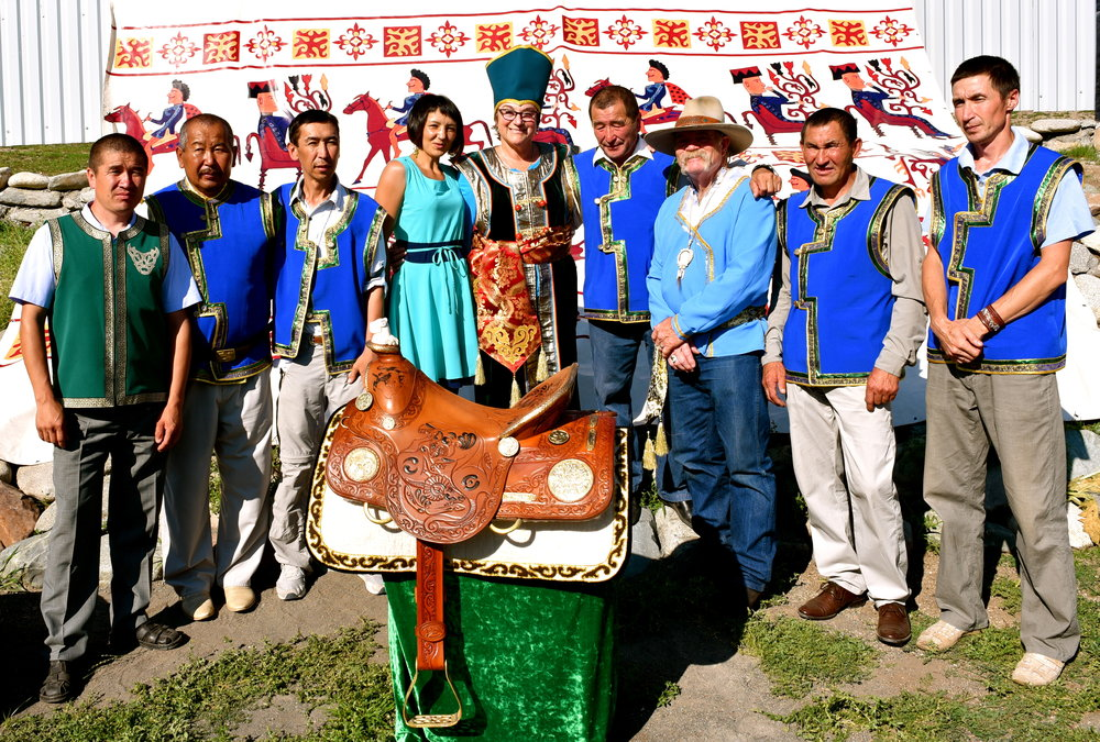 Kupchegan Artisans with the ALTAI western saddle.