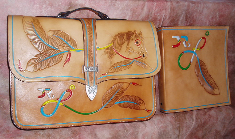"""HORSEFEATHERS"" set… ALL HAND CARVED AND HAND PAINTED… CUSTOM AND PERSONALIZED!….SOLD!"