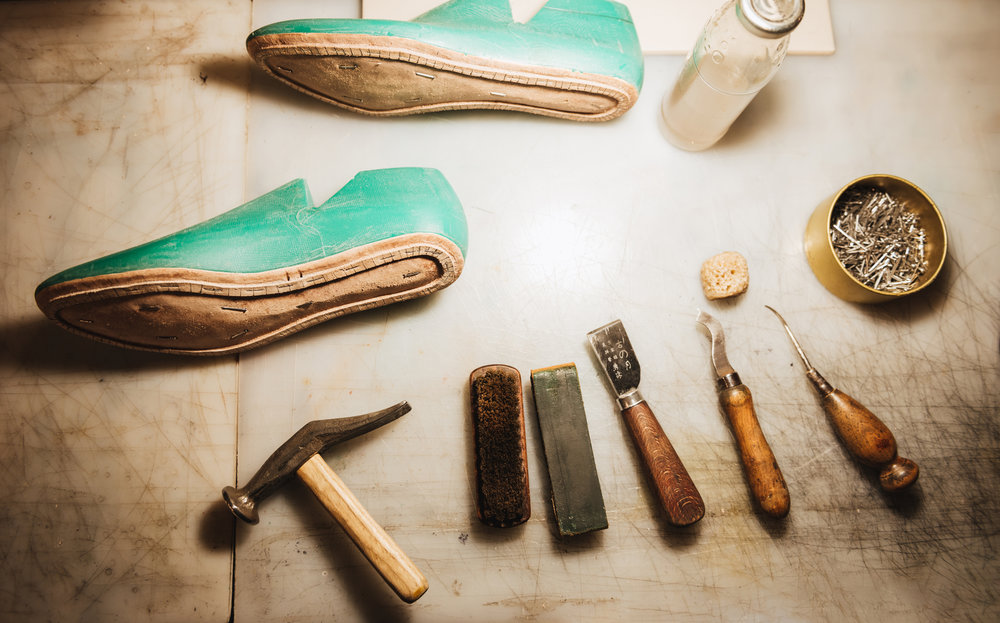 shoes-and-instruments-on-table-at-footwear-P37T8Q4.jpg