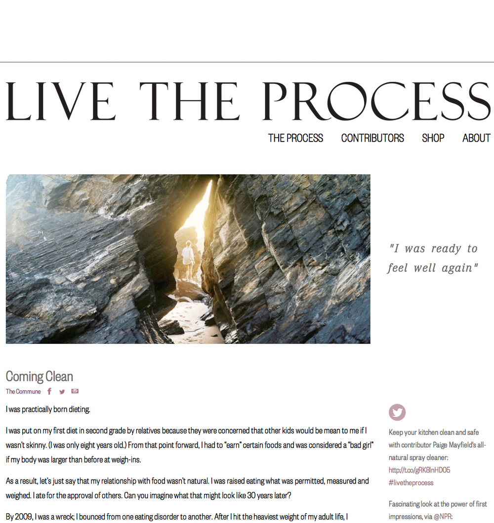 I was asked to share my story in Live The Process for Dr. Junger and CLEAN. Why, YES! Absolutely! Enjoy  the path:)