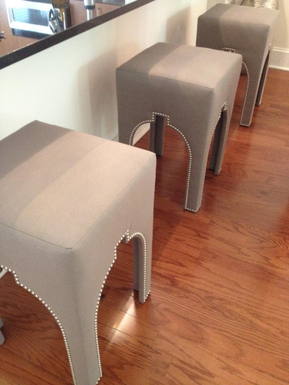 Custom designed counter stools