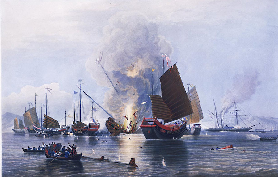 An Artists' Depiction of the Opium War