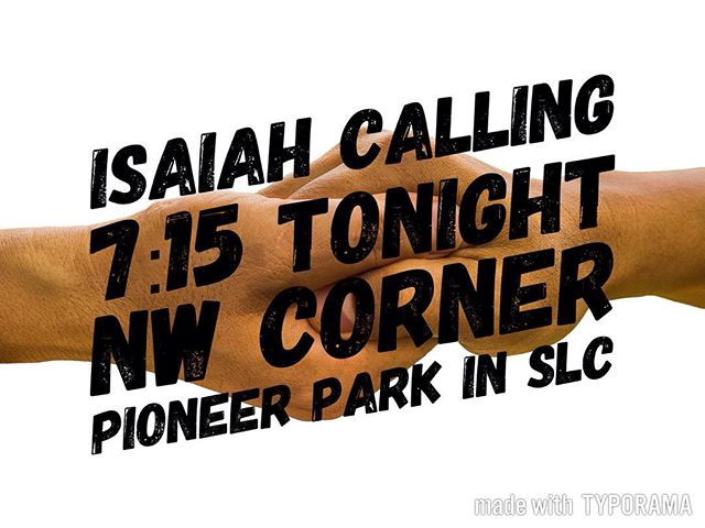 Meet at the Lemon's at 6:15 or at the park at 7:15. Either way, let Danielle know you are planning on going. #xauvu #chialpha #isaiahcalling